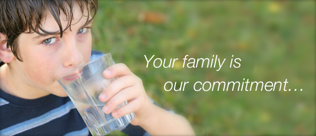 We are committed to safe water for your family
