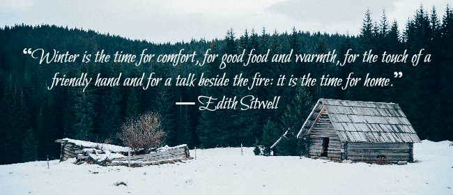 Winter cabin and quote